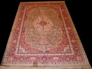 Kashmiry(artificial) silk Kashan (70ks6185)