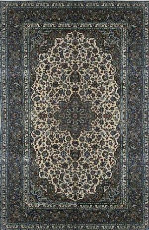 Fine Persian Kashan (Beige) (115352)
