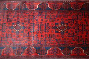 Afghan Khan Runner (Red) (Er117-M4174)