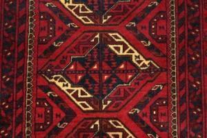 Afghan Khan Runner (Red) (Er117-M4948)