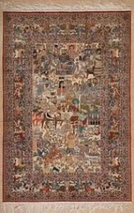 Qum silk rugs